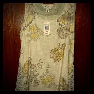 5 for $25 ❤Rustic tank top blouse